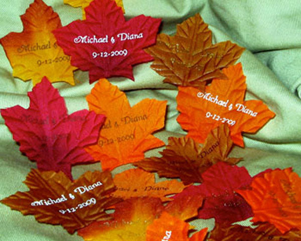 Personalized Fall Leaves