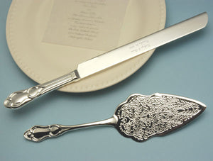 Engraved and Embossed Serving Set