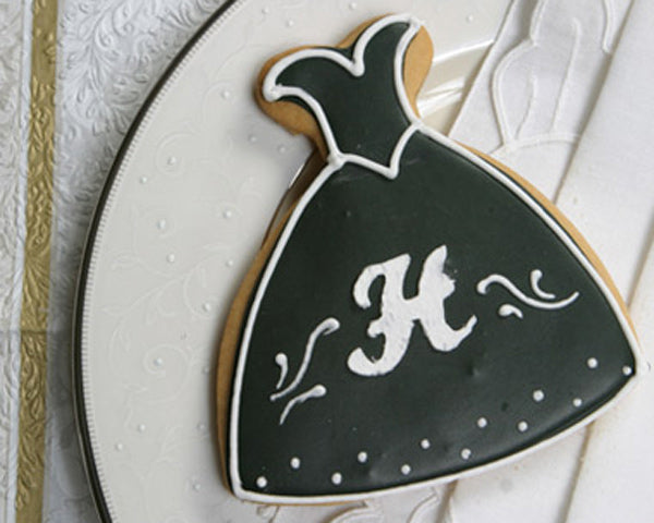 Personalized Initial Wedding Dress Cookie
