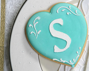 Personalized Initial Heart Cookie