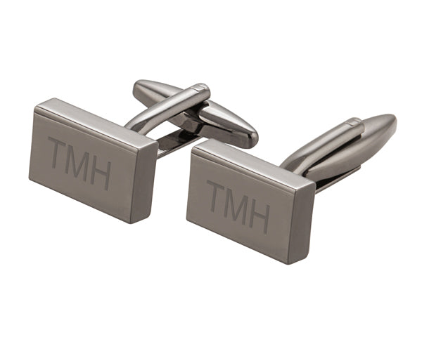 Personalized Gunmetal Cuff Links