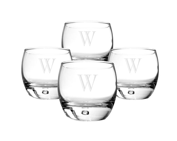 Personalized Heavy Based Whiskey Glasses (Set of 4)
