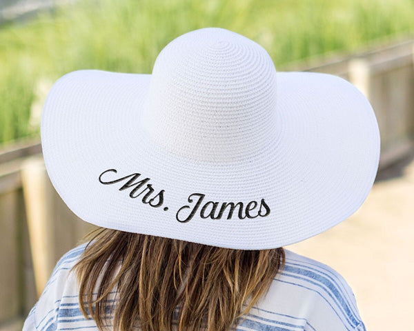 Personalized White Sun Hat