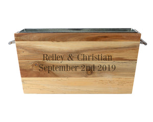 Personalized Acacia Beverage Chest