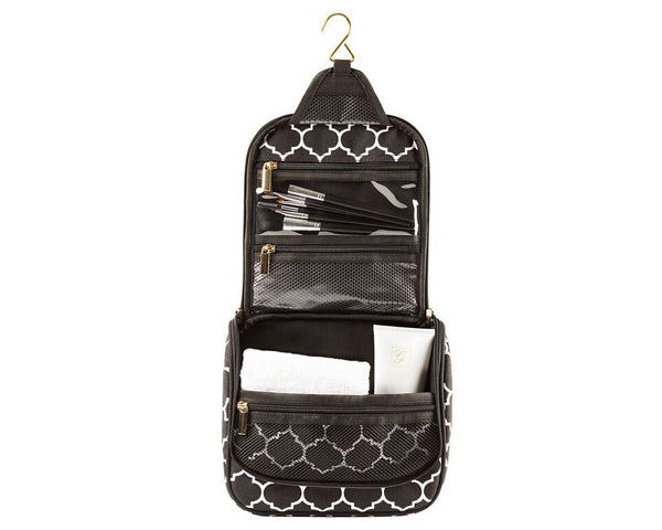 Personalized Women's Moroccan Hanging Cosmetic Bag (Black)