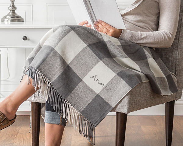 Personalized Buffalo Check Throw