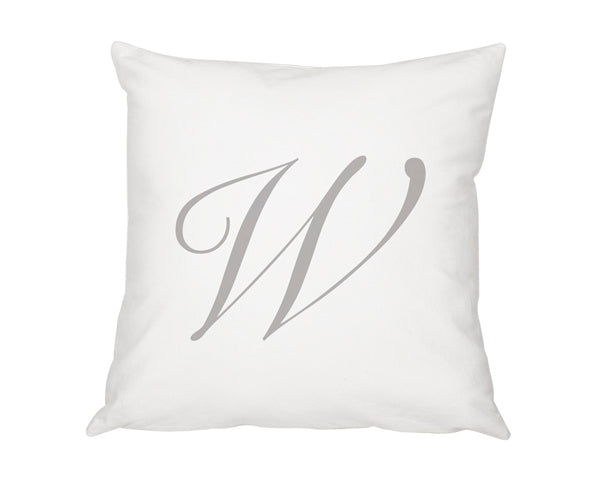 "Personalized 16"" Script Initial Pillow"