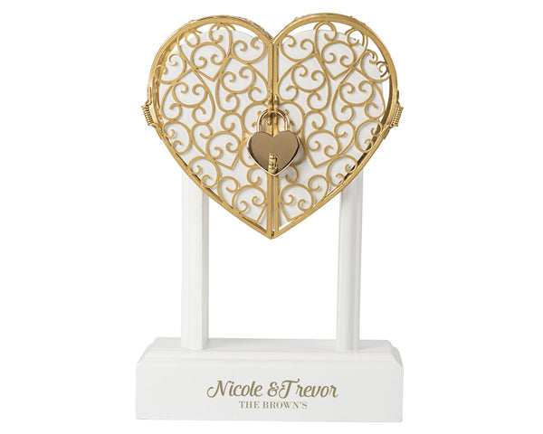 Personalized Heart Vow Unity Keepsake