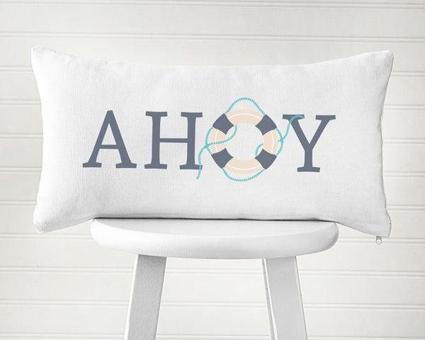 Ahoy Lumbar Throw Pillow