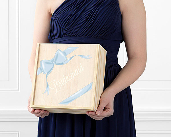 Bridesmaid Wooden Gift Box - Ribbon