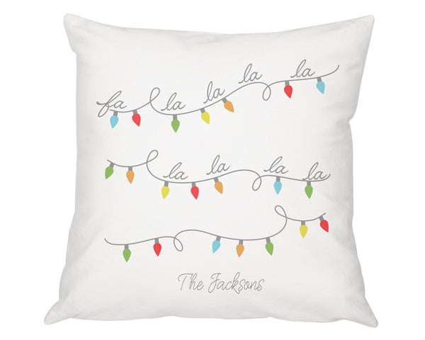 "Personalized 16"" Fa La La Throw Pillow"