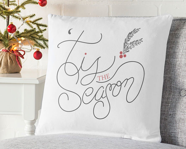 "16"" Tis the Season Throw Pillow"