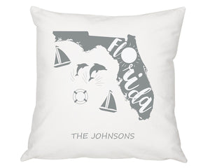 "Personalized 16"" My State Throw Pillow"