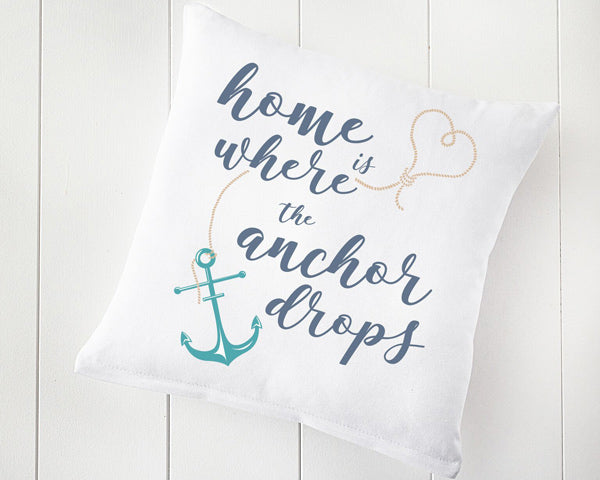 "16"" Home is Where the Anchor Drops Throw Pillow"