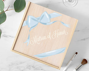 Load image into Gallery viewer, Matron of Honor Wooden Gift Box - Ribbon