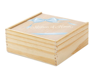 Matron of Honor Wooden Gift Box - Ribbon