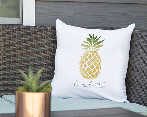"Personalized 16"" Pineapple Throw Pillow"