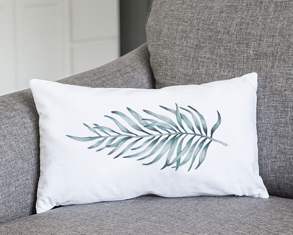 Palm Leaf Lumbar Pillow