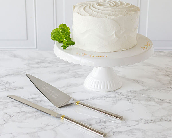 Personalized Serving Set & Cake Stand