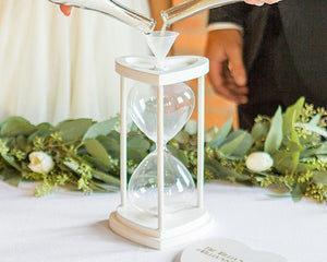 Personalized Unity Sand Ceremony Hourglass Set (Available in Gold & Silver)