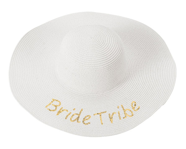 Bride Tribe Gold Sequin Sun Hat