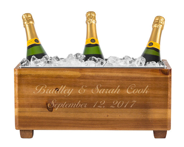 Personalized Wedding Wooden Wine Chest