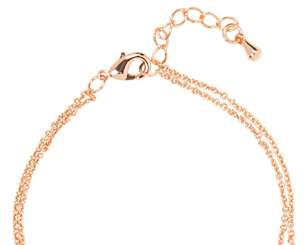 Personalized Rose Gold Love Bracelet
