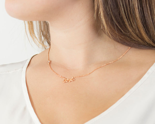 Personalized Rose Gold Love Necklace