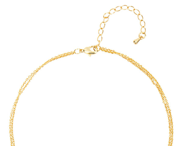 Personalized Gold Double Chain Necklace