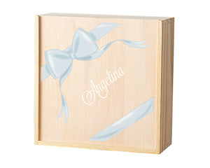 Load image into Gallery viewer, Personalized Bridesmaid Wooden Gift Box Set - Ribbon