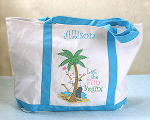 Let The Fun Begin! Personalized Beach Bag