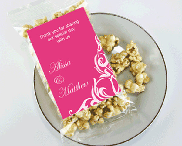 Personalized Classic Themed Caramel Corn Wedding Favors