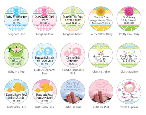 Personalized Baby Shower Gummy Bear Favors (Many Designs Available)