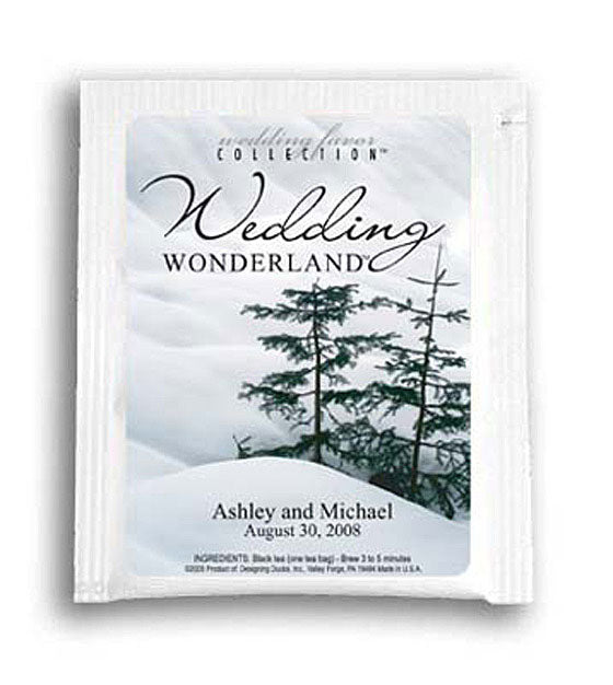 Wedding Wonderland (Trees) Personalized Tea Favors