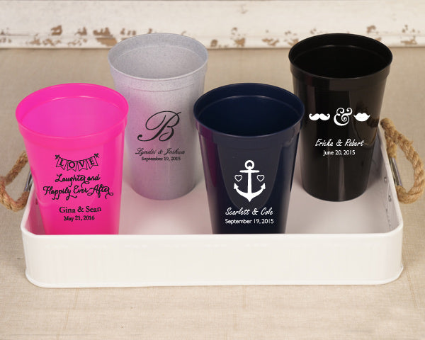 Personalized Plastic Cups (Many Designs Available)