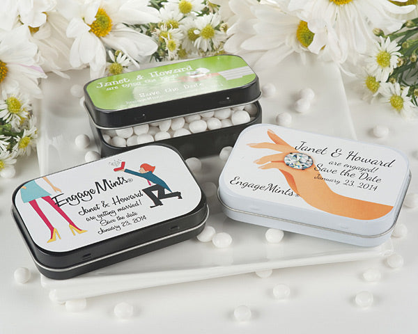 Engagemints Personalized Mint Tins (Exclusive Designs) - Large