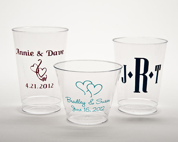 Personalized Hard Plastic Disposable Cups (Multiple Sizes and Designs Available)