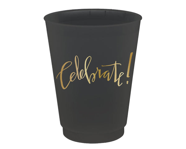 Celebrate Frost Flex Black Cups (Set of 8)