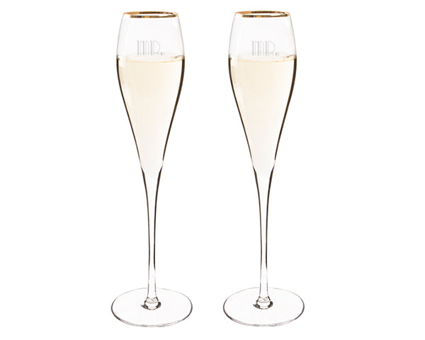 Mr. & Mr. Gatsby Champagne Toasting Flutes