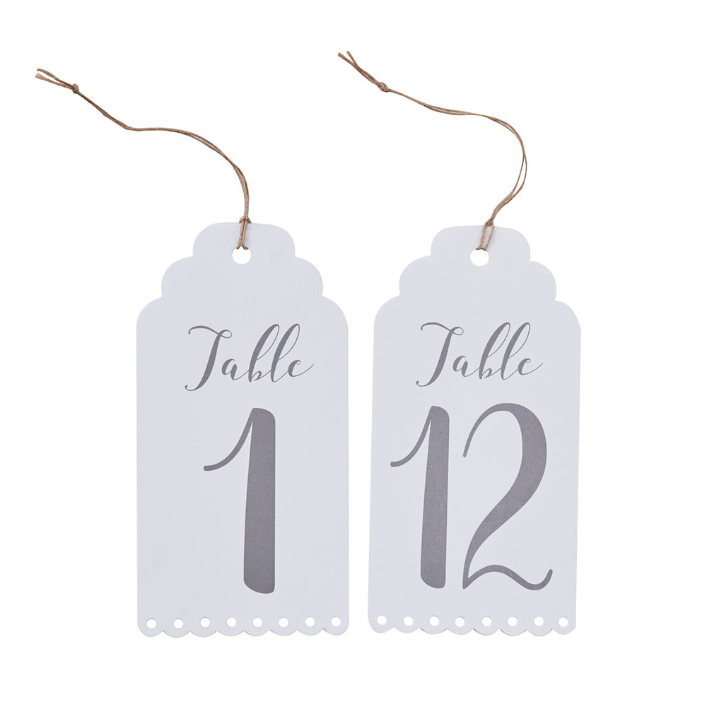 Beautiful Botanics Scalloped Table Numbers (1-12)