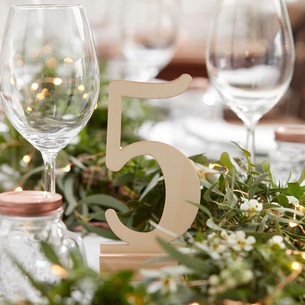 Beautiful Botanics Wooden Table Numbers (1-12)