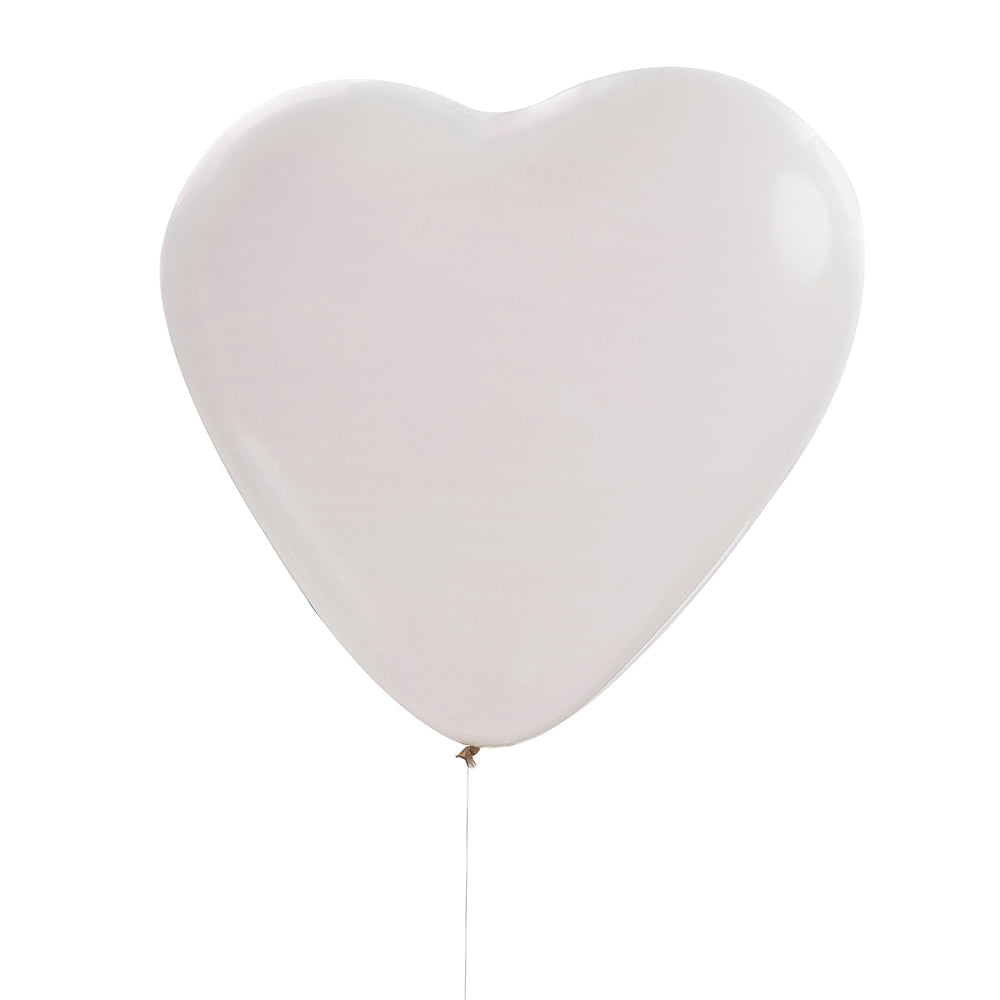 "Beautiful Botanics White 36"" Heart Balloons (Set of 3)"