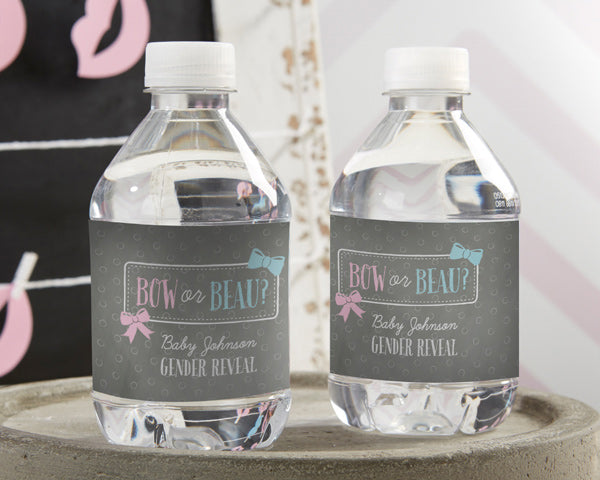 Personalized Gender Reveal Water Bottle Labels
