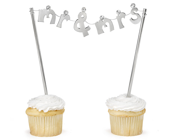 Mr. & Mrs. Banner Cake Topper