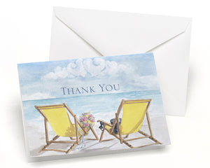Seaside Jewels - Thank You Card and Envelope (Package of 50)