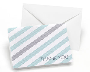 Simple Stripe - Thank You Card and Envelope (Package of 50)
