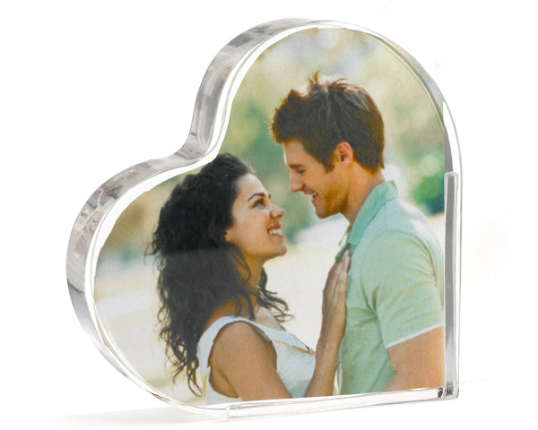 Load image into Gallery viewer, Photo Heart Acrylic Cake Topper