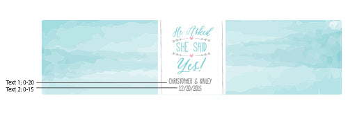 Personalized He Asked, She Said Yes Water Bottle Labels