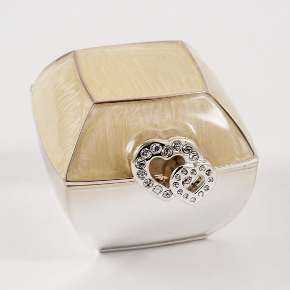 Double Heart Decorative Ring Box