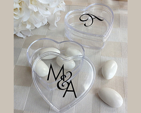 Monogram Heart Acrylic Favor Box